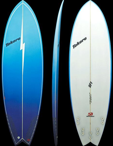 modelo de prancha de surf sf1 tokoro surfboards